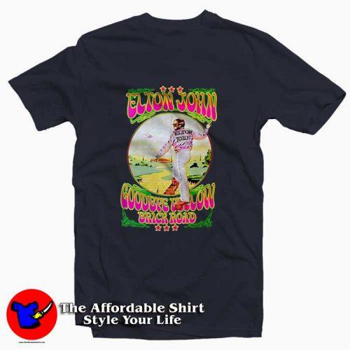 Elton John Goodbye Yellow Brick Road 500x500 Elton John Goodbye Yellow Brick Road Tee Shirt