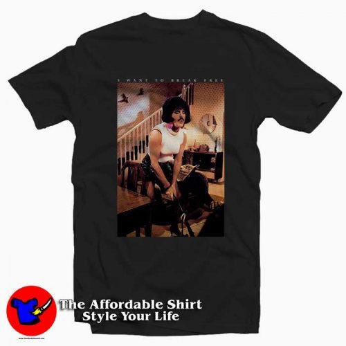 Freddie Mercury Want To Break Free1 500x500 Freddie Mercury Want To Break Free Tee Shirt