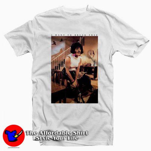 Freddie Mercury Want To Break Free2 500x500 Freddie Mercury Want To Break Free Tee Shirt