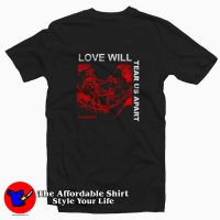 Love Will Tear Us Apart Pleasures Tee Shirt Black