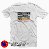 Nirvana Album Cassettes Tee Shirt White