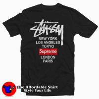 Stussy X Supreme World Tour Collab Black 200x200 Stussy X Supreme World Tour Collab Tee Shirt