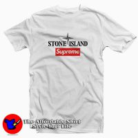 Supreme Collab Stone Island Tee Shirt White