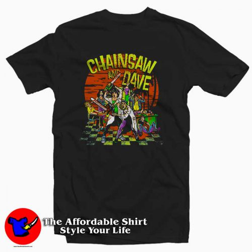 Chainsaw and Dave Summer School Tee Shirt 500x500 Chainsaw and Dave Summer School Tee Shirt