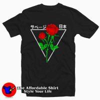 Japanese Red Roses Tumblr Tee Shirt