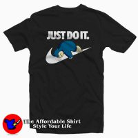 Snorlax Pokemon Just Do It Tee Shirt