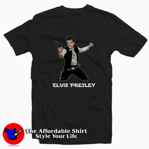 Star Wars Parody Han Elvis Solo 500x500 Star Wars Parody Han Elvis Solo Tee Shirt