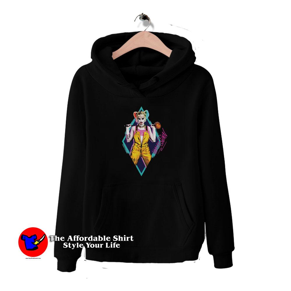 Get Buy Birds Of Prey Harley Quinn Neon Diamond Hoodie For Sale