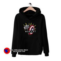 Captain America Hammer Shield Pullover Hoodie