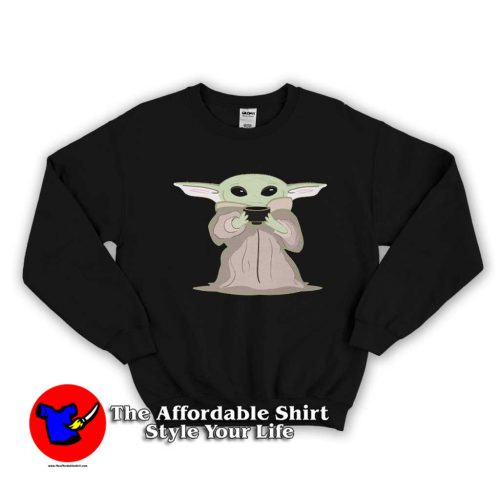 Green Space Baby Yoda 500x500 Green Space Baby Yoda Swearshirt