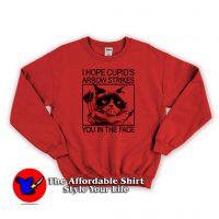 Grumpy Cat Valentine Arrow Strikes Sweatshirt