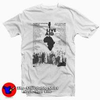 Live Aid Band Logo T-Shirt Cheap
