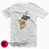 Live aid band aid logo 1985 T-Shirt Cheap