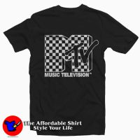 MTV Bright Checkered Logo T-Shirt
