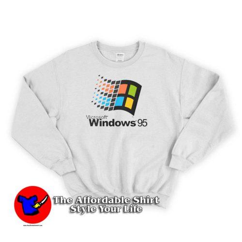 Microsoft Windows 95 500x500 Microsoft Windows 95 Logo Unisex Sweatshirts