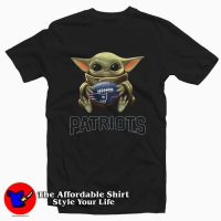 New England Patriots Baby Yoda Mandalorian Tee Shirt