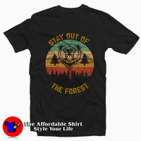 Stay Out of the Forest Retro Tee Shirt