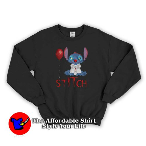 Dancing Clown Stitch Pennywise 500x500 Dancing Clown Stitch Pennywise Sweatshirt