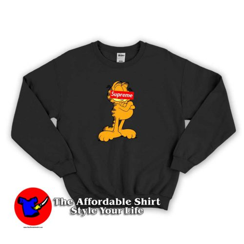 Garfield Cat Supreme Face 500x500 Garfield Cat Supreme Face Sweatshirt Supreme Collection