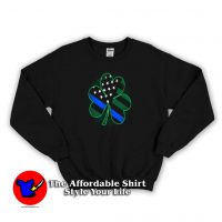 Official Thin Blue Line St Patrick's Day Sweatshirt