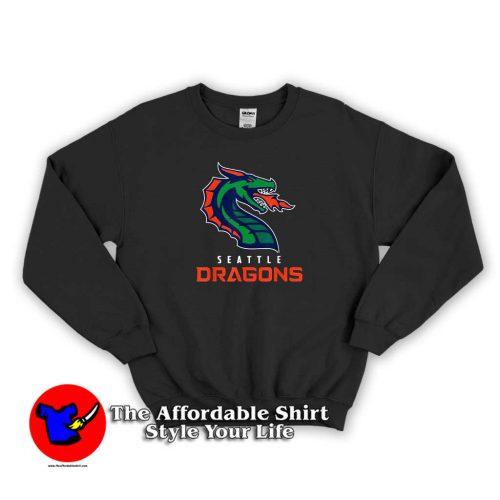 Seattle Dragons Football Sweater 500x500 Seattle Dragons Football Graphic Sweatshirt Cheap