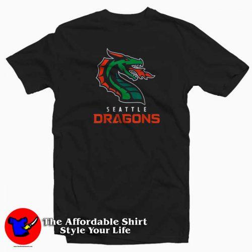Seattle Dragons Football Tshirt 500x500 Seattle Dragons Football Graphic T Shirt Cheap