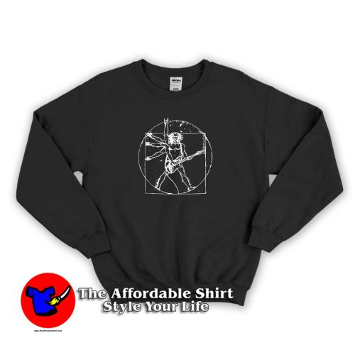Vitruvian Davinci Guitar Sweater 500x500 Vitruvian Davinci Guitar Unisex Sweatshirt Cheap