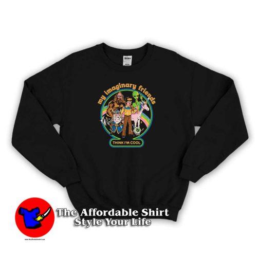 My Imaginary Friends Graphic Sweater 500x500 My Imaginary Friends Graphic Sweatshirt Cheap