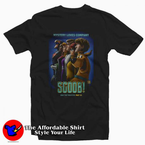 New Scooby doo Poster Movie Tshirt 500x500 New Scooby Poster Movie Mystery Loves Company T Shirt Cheap
