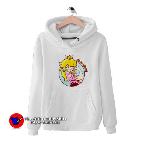 Princess Peach Lovely HoodieTAS 500x500 Cute Princess Peach Lovely Unisex Hoodie Cheap