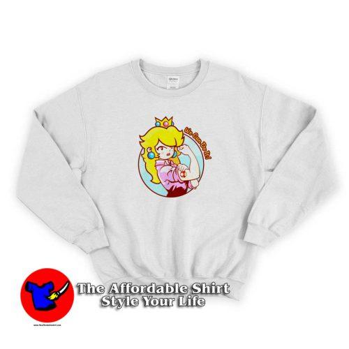 Princess Peach Lovely Sweater 500x500 Cute Princess Peach Lovely Unisex Sweatshirt Cheap