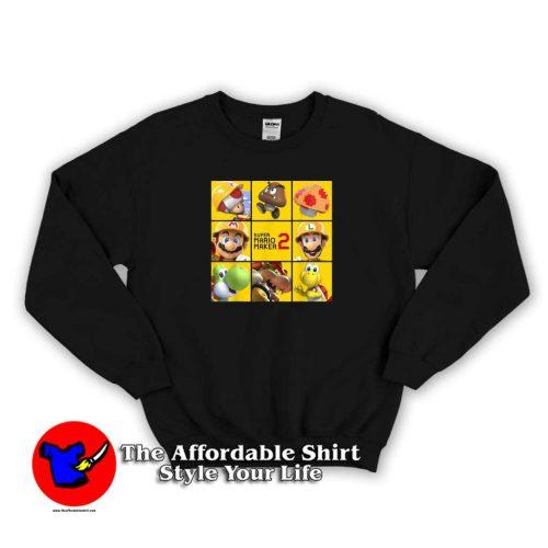 Super Mario Maker 2 Character Logo Box Sweater 500x500 Super Mario Maker 2 Character Logo Box Sweatshirt Cheap