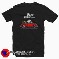 Snoopy Driving Car Fast And The Furious T-shirt