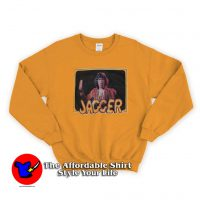 Vintage Mick Jagger Orange Unisex Sweatshirt