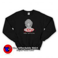 Woman Cry Want Stop Human Trafficking Sweatshirt