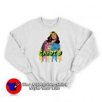 Vintage Cardi B Style 3D Unisex Sweatshirt