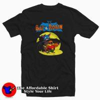 Vintage Cartoon Bat And Robin T-shirt