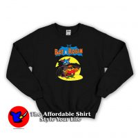 Vintage Cartoon Bat And Robin Sweatshirt