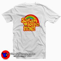 Funny Satan Loves Me Rainbow Unisex T-shirt