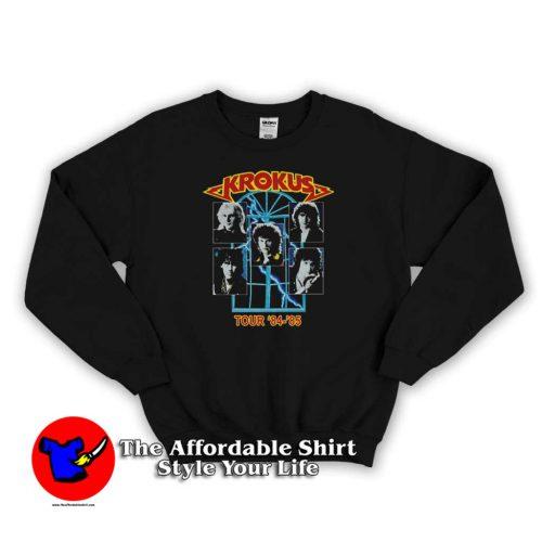 Krokus Guns Roses Tour 84 85 Unisex Sweater 500x500 Krokus Guns Roses Tour 84 85 Unisex Sweatshirt On Sale