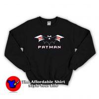 New England Football Batman Logo Sweatshirt