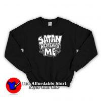 Satan Worships Me Evil Baphomet Unisex Sweatshirt