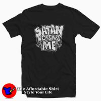 Satan Worships Me Evil Baphomet Unisex T-shirt