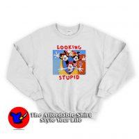 Vintage Looking Stupid Animaniacs Unisex Sweatshirtr