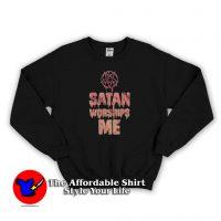 Vintage Satan Worships Me Unisex Sweatshirt