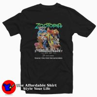 Zootopia Anniversary Thank For The Memories T-shirt